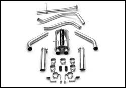 Exhaust - MagnaFlow - MagnaFlow - Magnaflow Cat-Back Exhaust System with Dual Split Rear Exit Pipes - 15776