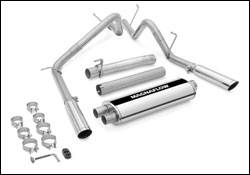 Exhaust - MagnaFlow - MagnaFlow - Magnaflow Cat-Back Exhaust System with Dual Split Rear Exit Pipes - 15791