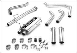 Exhaust - MagnaFlow - MagnaFlow - Magnaflow Cat-Back Exhaust System with Dual Split Rear Exit Pipes - 15796