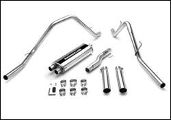Exhaust - MagnaFlow - MagnaFlow - Magnaflow Cat-Back Exhaust System with Dual Split Rear Exit Pipes - 15813