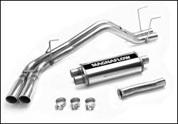 Exhaust - MagnaFlow - MagnaFlow - Magnaflow Cat-Back Exhaust System with Dual Pipes Same Side Behind The Rear Tire Exit - 15820