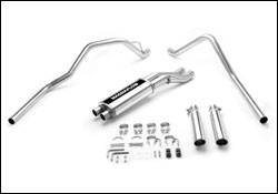Exhaust - MagnaFlow - MagnaFlow - Magnaflow Cat-Back Exhaust System with Dual Split Rear Exit Pipes - 15828