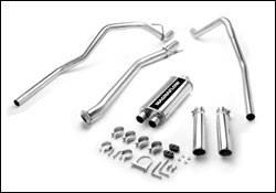 Exhaust - MagnaFlow - MagnaFlow - Magnaflow Cat-Back Exhaust System with Dual Split Rear Exit Pipes - 15841
