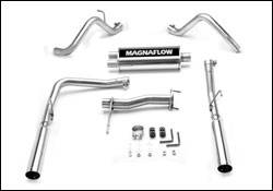 Exhaust - MagnaFlow - MagnaFlow - Magnaflow Cat-Back Exhaust System with Dual Split Rear Exit Pipes - 15846