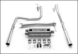 Exhaust - MagnaFlow - MagnaFlow - Magnaflow Cat-Back Exhaust System with Dual Split Rear Exit Pipes - 15847