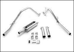 Exhaust - MagnaFlow - MagnaFlow - Magnaflow Cat-Back Exhaust System with Dual Split Rear Exit Pipes - 15863