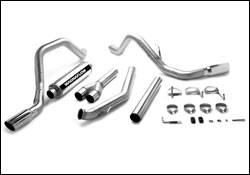 Exhaust - MagnaFlow - MagnaFlow - Magnaflow Performance Series 4 Inch Exhaust System with 4 Inch Turbo-Back Tuner & Dual Exit - 15963