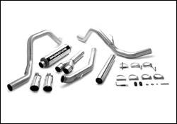 Exhaust - MagnaFlow - MagnaFlow - Magnaflow XL Series 4 Inch Exhaust System with Turbo-Back Tuner & Dual Exit - 15973