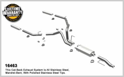 Exhaust - MagnaFlow - MagnaFlow - Ford F-150 Magnaflow Dual Split Rear Exit Stainless Steel Cat-Back Exhaust System - 16463