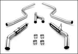 Exhaust - MagnaFlow - MagnaFlow - Magnaflow Cat-Back Exhaust System with Dual Split Rear Exit Pipes - 16605