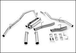 Exhaust - MagnaFlow - MagnaFlow - Magnaflow Cat-Back Exhaust System with Dual Split Rear Exit Pipes - 16614