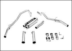 Exhaust - MagnaFlow - MagnaFlow - Magnaflow Cat-Back Exhaust System with Dual Split Rear Exit Pipes - 16615
