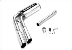 Exhaust - MagnaFlow - MagnaFlow - Magnaflow Cat-Back Exhaust System with Dual Pipes Same Side Exit in Front of Tire - 16617