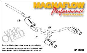 Exhaust - MagnaFlow - MagnaFlow - Magnaflow Cat-Back Exhaust System - 16680