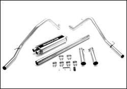 Exhaust - MagnaFlow - MagnaFlow - Magnaflow Cat-Back Exhaust System with Dual Rear Exit Pipes on Independent Front Suspension - 16700