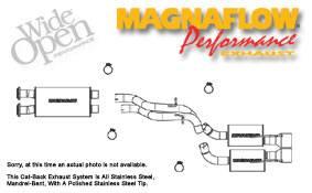 Exhaust - MagnaFlow - MagnaFlow - Magnaflow Cat-Back Exhaust System - 16709
