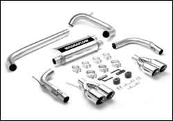 Exhaust - MagnaFlow - MagnaFlow - Magnaflow Cat-Back Exhaust System with Quad Tip Dual Rear Exit - 16723