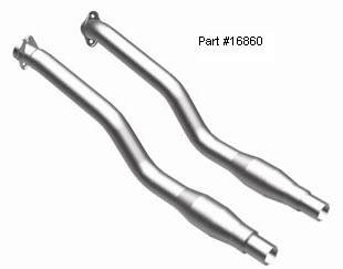 Exhaust - MagnaFlow - MagnaFlow - BMW M6 Magnaflow Performance Off-Road Pipes - 16860