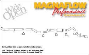 Exhaust - MagnaFlow - MagnaFlow - Magnaflow Cat-Back Exhaust System - 16900