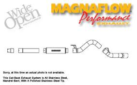 Exhaust - MagnaFlow - MagnaFlow - Magnaflow Performance Series 5 Inch Exhaust System with Cat-Back - 16955