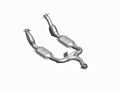 Exhaust - MagnaFlow - MagnaFlow - Magnaflow Direct Fit OBDII Catalytic Converter - 41108