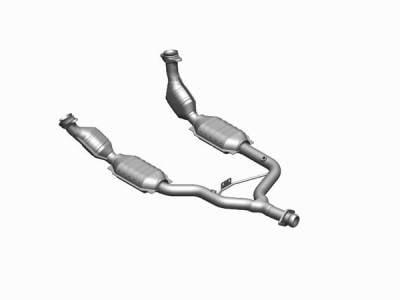 Exhaust - MagnaFlow - MagnaFlow - Magnaflow Direct Fit OBDII Catalytic Converter - 41109