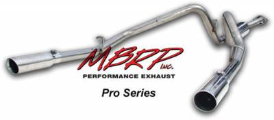 Exhaust - MBRP Exhaust - MBRP - MBRP Pro Series Dual Split Rear Exhaust System S5020304