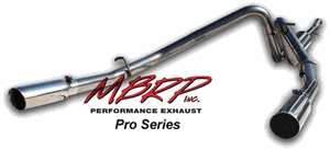 Exhaust - MBRP Exhaust - MBRP - MBRP Pro Series Dual Split Rear Exhaust System S5126304