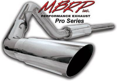 Exhaust - MBRP Exhaust - MBRP - MBRP Pro Series Single Side Exhaust System S5200304