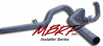 MBRP - MBRP Installer Series Turbo Back Cool Duals Exhaust System S6202AL