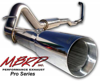 Exhaust - MBRP Exhaust - MBRP - MBRP Pro Series Turbo Back Exhaust System S6206304