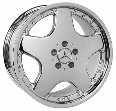 Wheels - Mercedes 4 Wheel Packages - Moore - 18 inch 5 Spoke Chrome - 4 wheel set