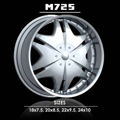 Wheels - Milano 4 Wheel Sets - Milano - Milano  M725