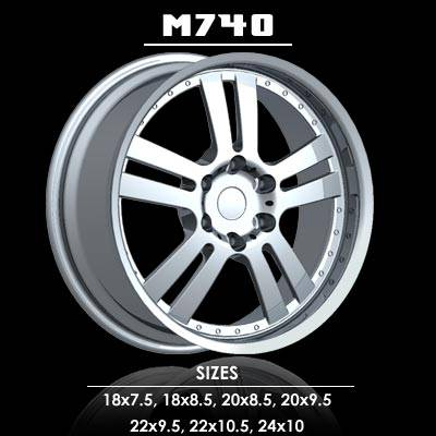 Wheels - Milano 4 Wheel Sets - Milano - Milano  M740