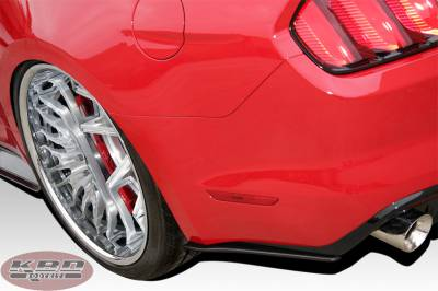 Body Kits - Mirrors - KBD - Ford Mustang KBD Extreme Rear Add-Ons - Pair 37-6016