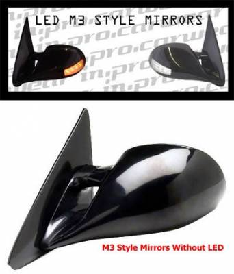 Civic 4Dr - Mirrors - In Pro Carwear - Honda Civic 4DR In Pro Carwear Manual Mirrors - CM3-92CV4