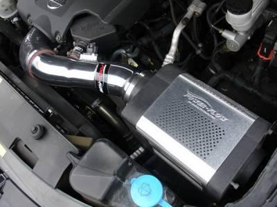 Air Intakes - OEM - Injen - Nissan Titan Injen Power-Flow Series Air Intake System - Wrinkle Black - PF1950-1WB