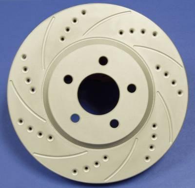 Brakes - Brake Rotors - SP Performance - Subaru Impreza SP Performance Cross Drilled and Slotted Vented Rear Rotors - F47-396