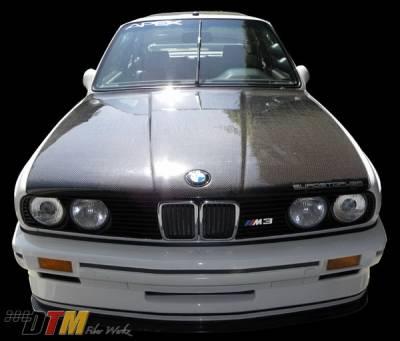 3 Series 4Dr - Hoods - DTM Fiberwerkz - BMW 3 Series DTM Fiberwerkz OEM Style Hood- CFRP - E30-OEM-STYL