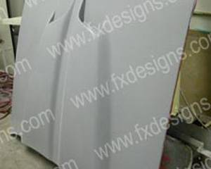 FX Designs - Chevrolet Camaro FX Design Fiberglass Hoods Style Ram Air Hood - FX-901