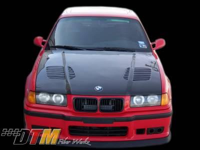 3 Series 2Dr - Hoods - DTM Fiberwerkz - BMW 3 Series DTM Fiberwerkz GTR Vented Style Hood