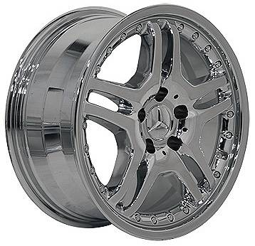 Wheels - Mercedes 4 Wheel Packages - EuroT - 17 Inch 5B Chrome - 4 Wheel Set