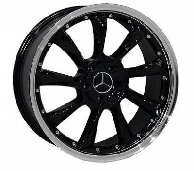 Wheels - Mercedes 4 Wheel Packages - EuroT - 18 Inch BlackS - 4 Wheel Set