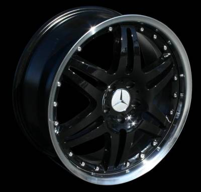 Wheels - Mercedes 4 Wheel Packages - Euro - 19 inch Black-Polished - 4 wheel set