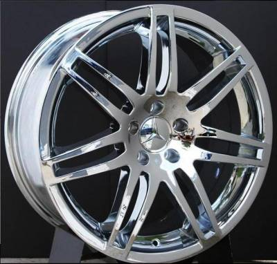 Wheels - Mercedes 4 Wheel Packages - EuroT - 19 Inch 580 Chrome - 4 Wheel Set