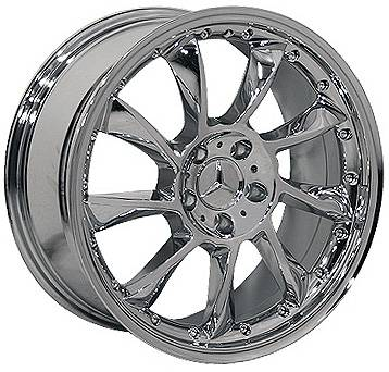 Wheels - Mercedes 4 Wheel Packages - EuroT - 18 In Star Chrome - 4 Wheel Set