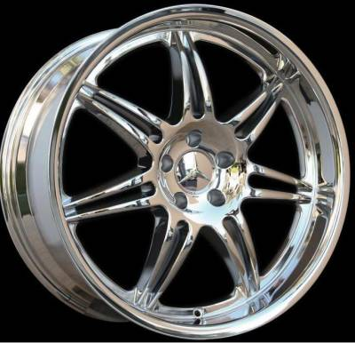Wheels - Mercedes 4 Wheel Packages - Euro - 20 inch Dish Chrome - 4 wheel set