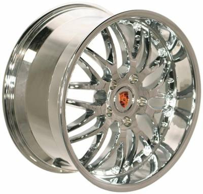 Wheels - Porsche Wheels - EuroT - 19 Chrome Challenge - 4 Wheel Set