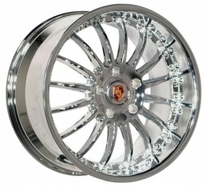 Wheels - Porsche Wheels - EuroT - 19 Inch Chrome Multi - 4 Wheel Set
