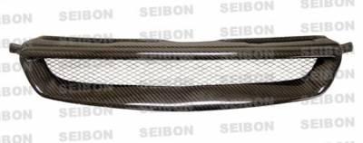 Grilles - Custom Fit Grilles - Seibon - Honda Civic Seibon TR Style Carbon Fiber Grille - FG9698HDCV-TR